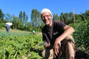 Author Ton Bil at Plum Village Happy Farm, France